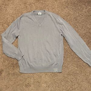 Express men's gray vneck sweater